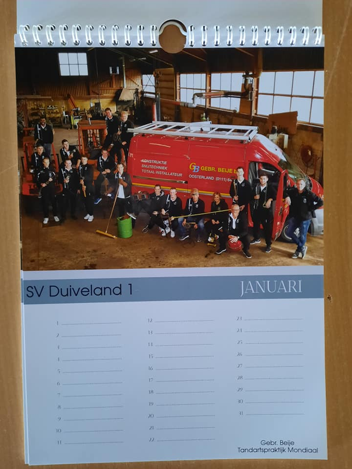 Jubileumkalenders te koop, het Sinterklaas of Kerstcadeau!